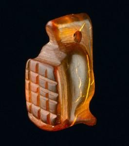 Amber gladiator amulet