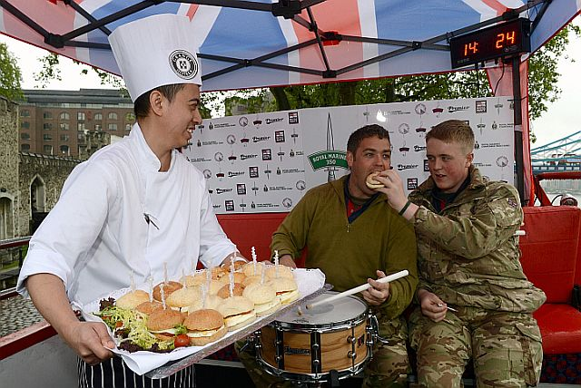 ROYAL MARINES CORPS OF DRUMS' WORLD RECORD ATTEMPT