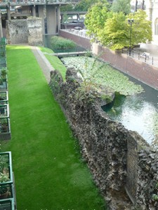 Bastions 12 (top) and 11A with adjacent wall