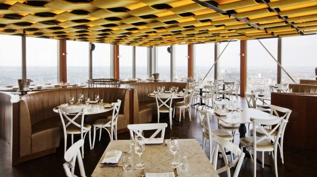 Duck and Waffle restaurant interior