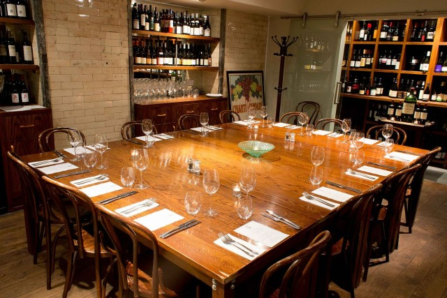 Vinoteca's private dining room