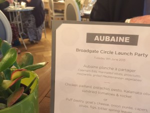 Aubaine at Broadgate Circle
