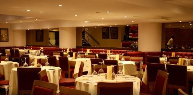 The attractively laid out, and comfortable, large main restaurant area