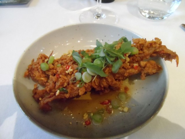 coated softshell crab