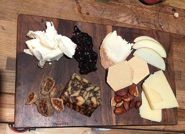 Typical cheese board selection