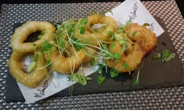 Tempura of calamari and prawns