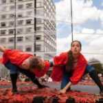 Female circus performers to entertain us in Guildhall Yard