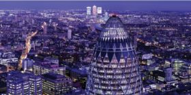 Dining and drinks at the top of the Gherkin