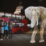 Lifesize elephant hologram at St Paul's